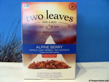 "two leaves and a bud ""Alpine Berry Herbal Tea"" 37,5 g."